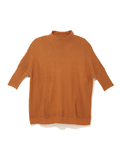 plus size poncho sweater