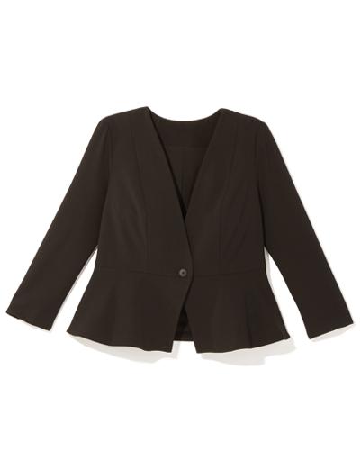 Black plus size peplum blazer