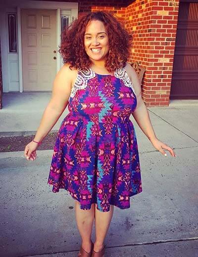 plus size dancer jessie diaz in a dress