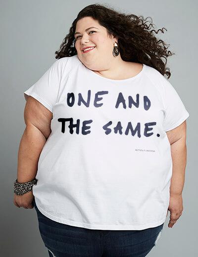 Jackie Schwartz in a #TeeUpChange t-shirt