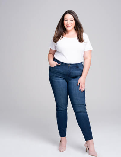 1x skinny jeans white tee paige