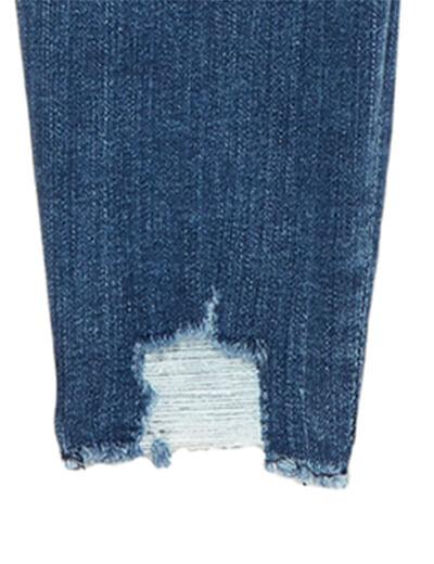 Frayed hem plus size denim | Dia&Co