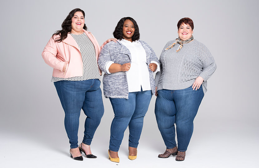 Plus size stretch skinny jeans for all sizes | Dia&Co