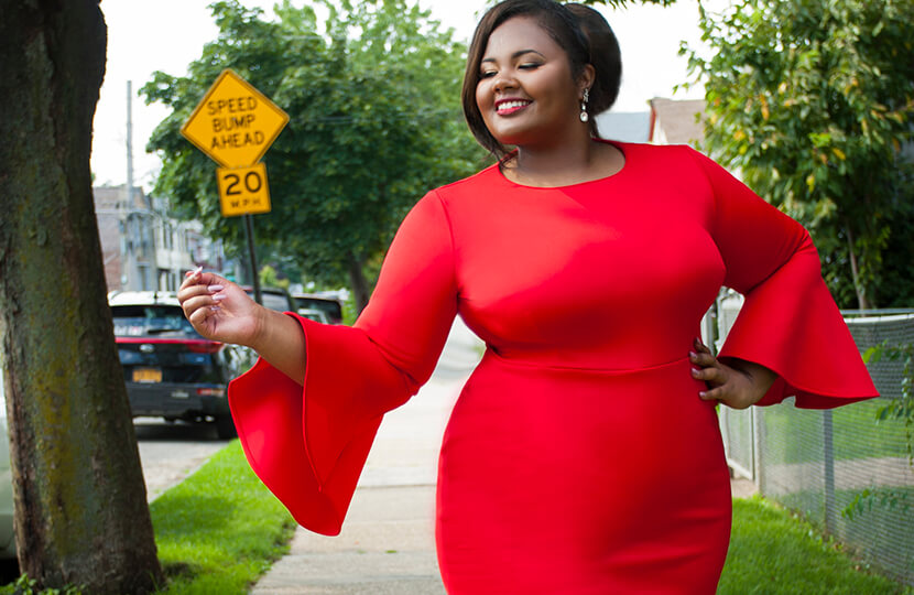 yasmine arrington red dress 2