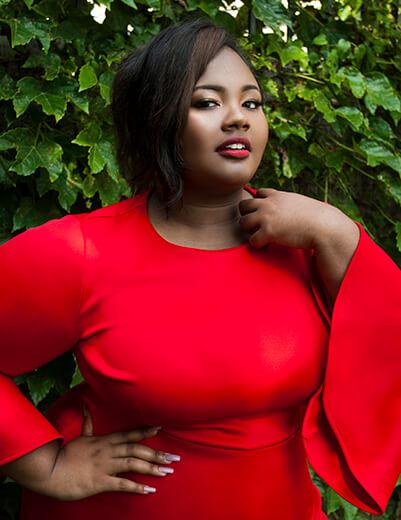 yasmine arrington red dress