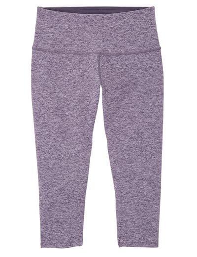 heathered purple capri legging