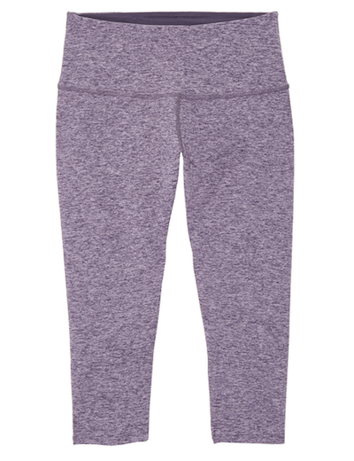 heathered purple capri legging