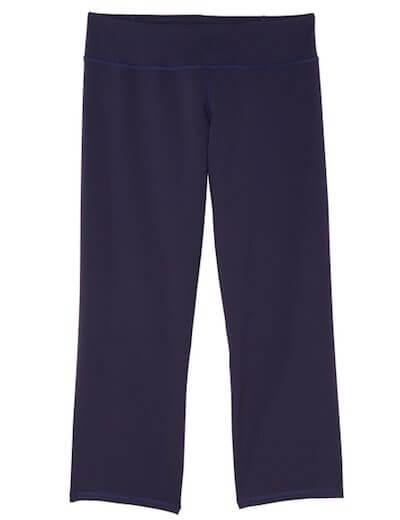 navy wide leg activewear legging