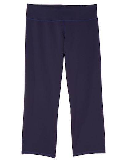 navy wide leg activewear legging