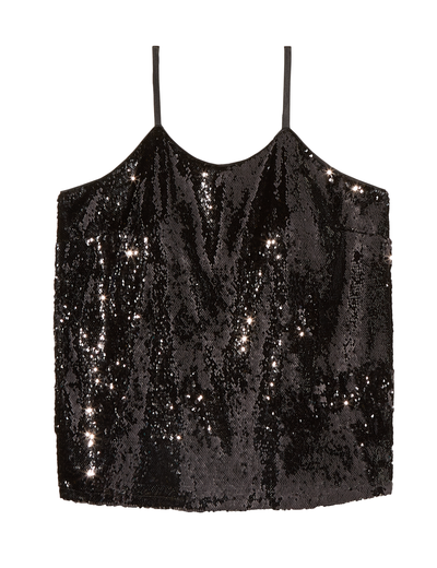 plus size sequined camisole