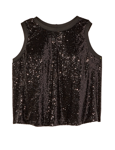 plus size sequined tank