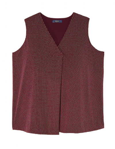 Plus size burgundy tank with studs
