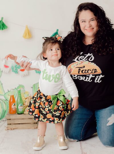 Kayla Klein and her daughter.