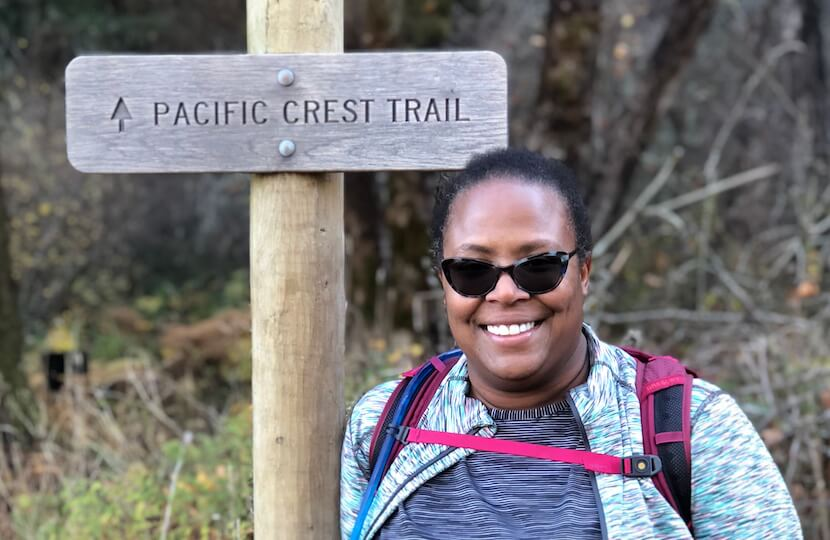 Bisa on the Pacific Crest Trail.