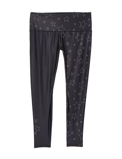 plus size star printed leggings