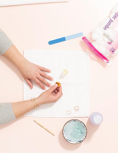 diy manicure add cuticle oil