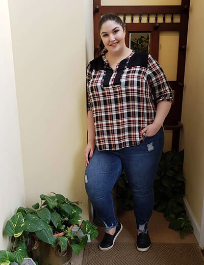 plus-size clothing plaid shirt denim