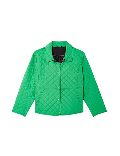plus size Quilted jacket in light green.