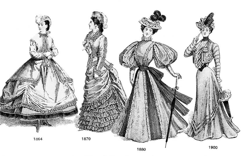 plus-size fashion history silhouettes 19th century 20th century