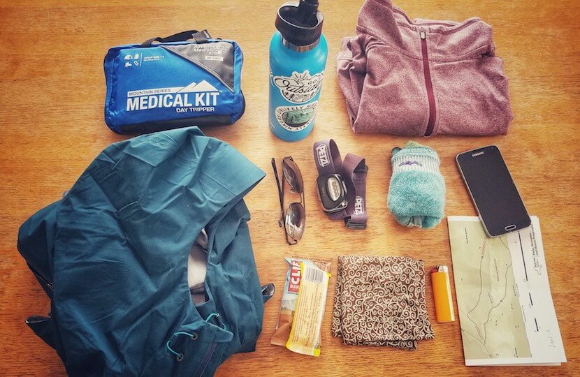 Andrea DiMaio's hiking essentials to fill her day pack with.