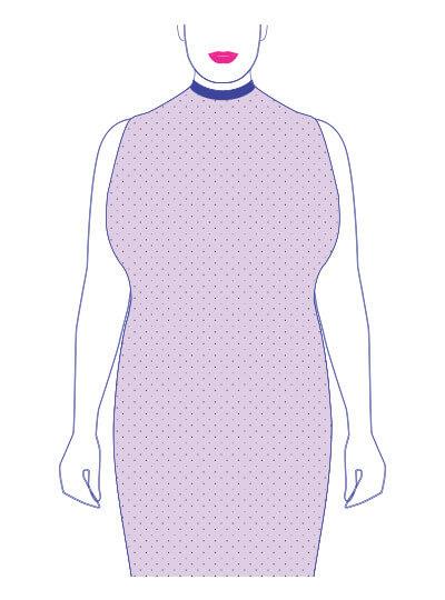 plus-size body shape top-heavy