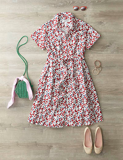 plus-size cherry dress dressy spring look
