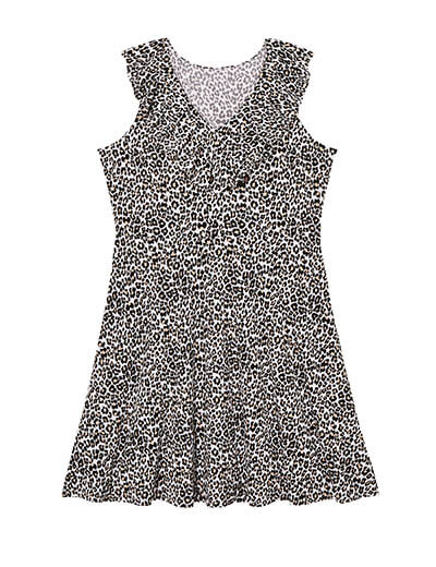 plus-size spring capsule collection leopard print fit and flare dress