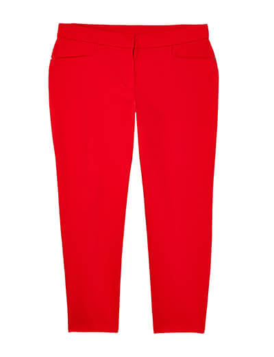 plus-size spring capsule collection red pants