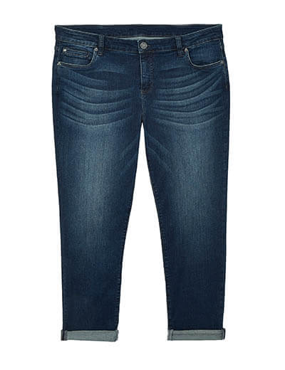plus-size spring capsule collection cuffed denim