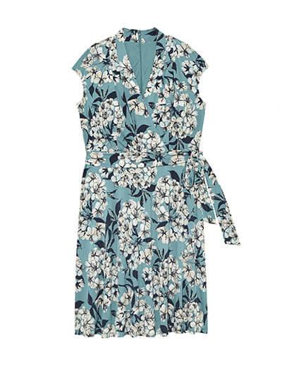 Plus-size floral cap sleeve dress