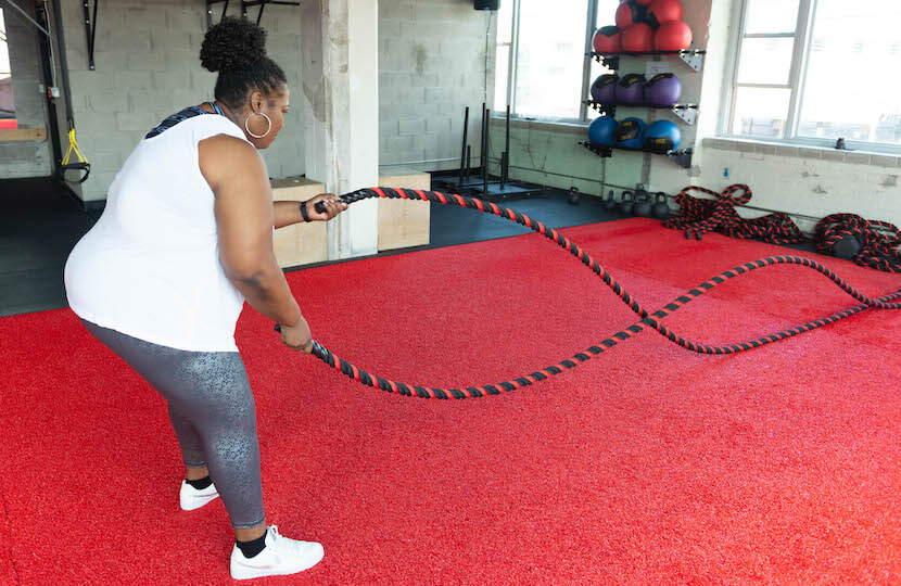 Terri Smith working out.