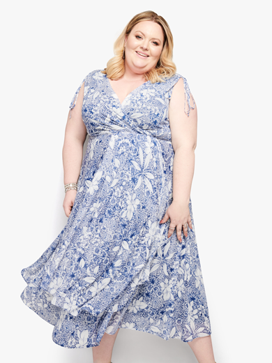 Plus size floral midi dress | Dia&Co