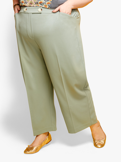 Plus size wide leg pants | Dia&Co