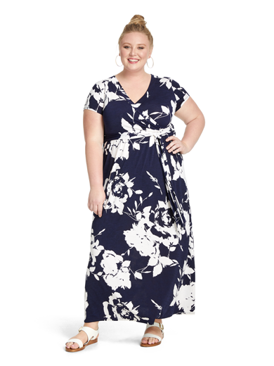 Plus size floral maxi dress | Dia&Co