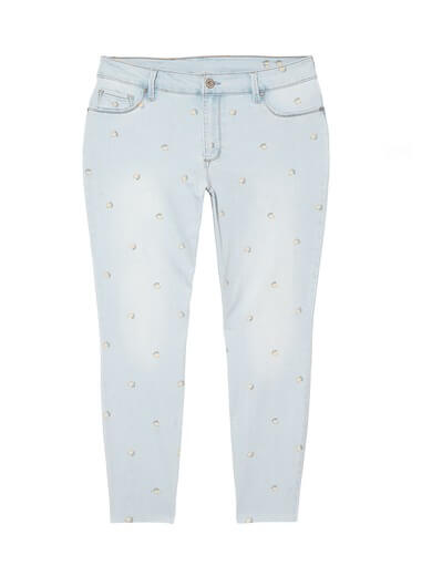plus size jeans with lemon print