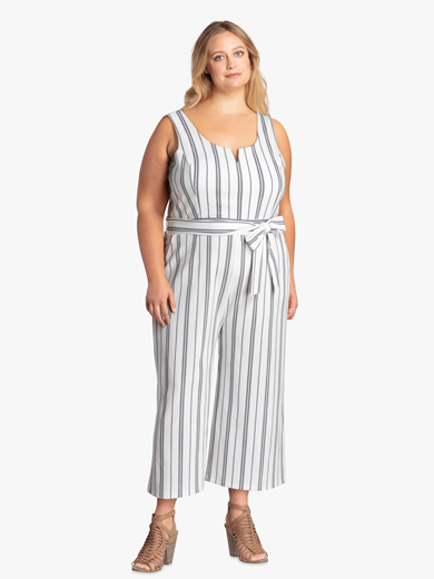 Plus size striped jumpsuit | Dia&Co
