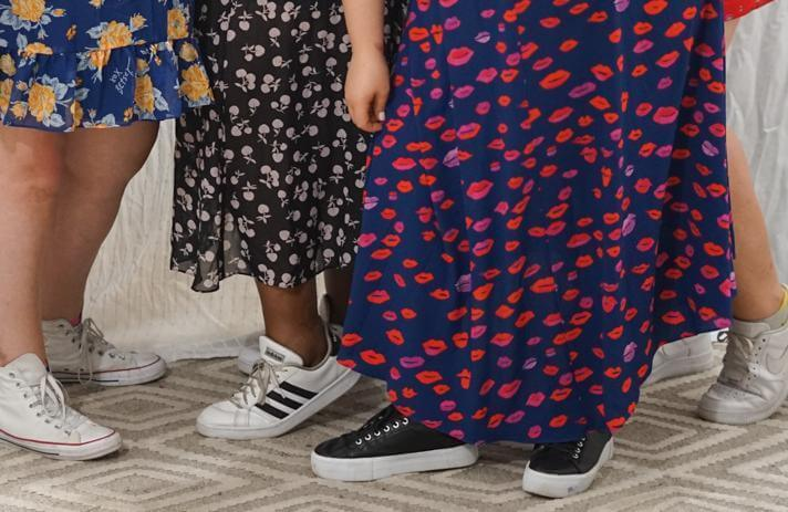 plus-size dress with sneakers betsey johnson dresses and sneakers