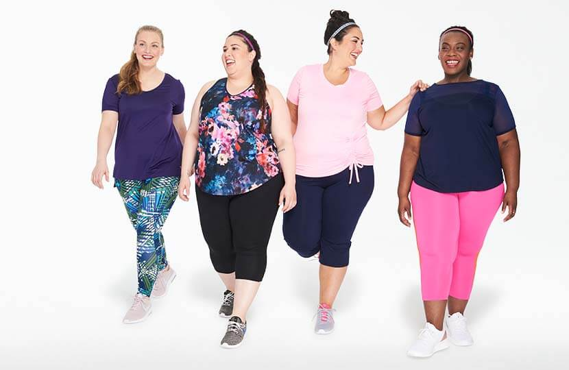 plus-size spin class group shot