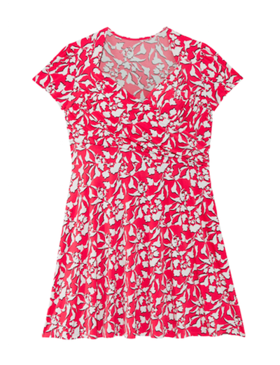 4th of july outfits plus size red printed sweetheart neckline dress