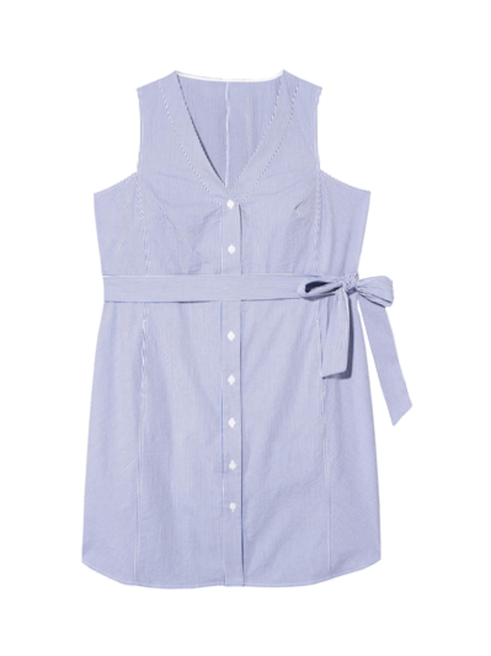 plus size new arrivals pinstripe shirt dress