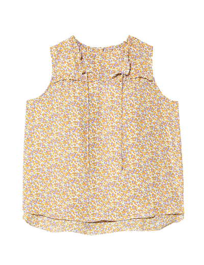 plus size new arrivals floral sleeveless blouse