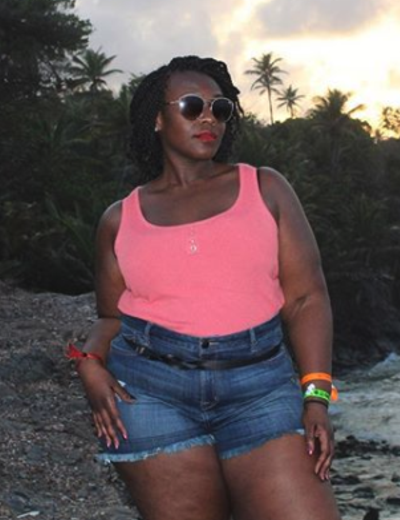 plus size mannequins christine pink tank top denim shorts