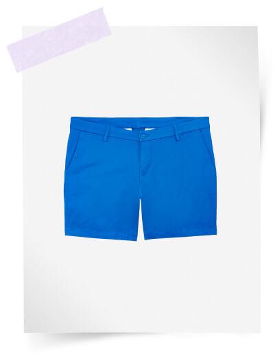 plus size royal blue shorts
