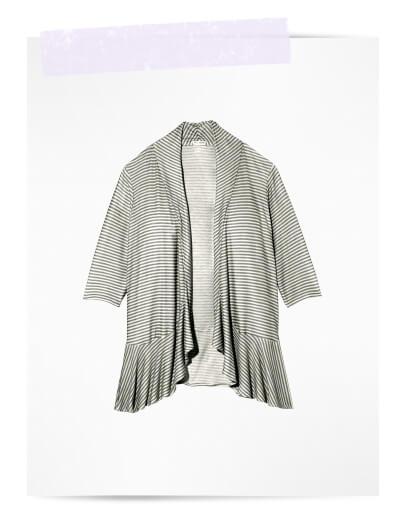 plus size swim cover ups striped cardigan with ruffle waterfall