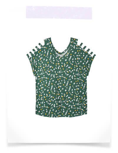 what to pack for vacation plus size green pattern cage detail top