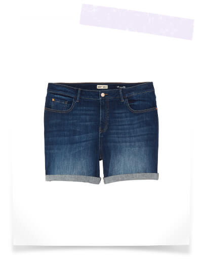 what to pack for vacation plus size dark wash denim shorts