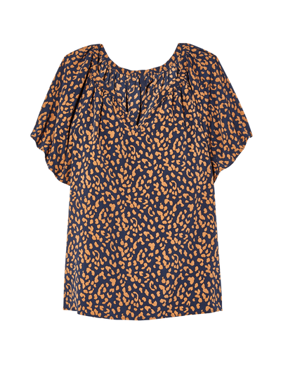 plus size cheetah print top