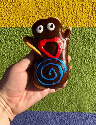 The adorably delicious VooDoo donut.