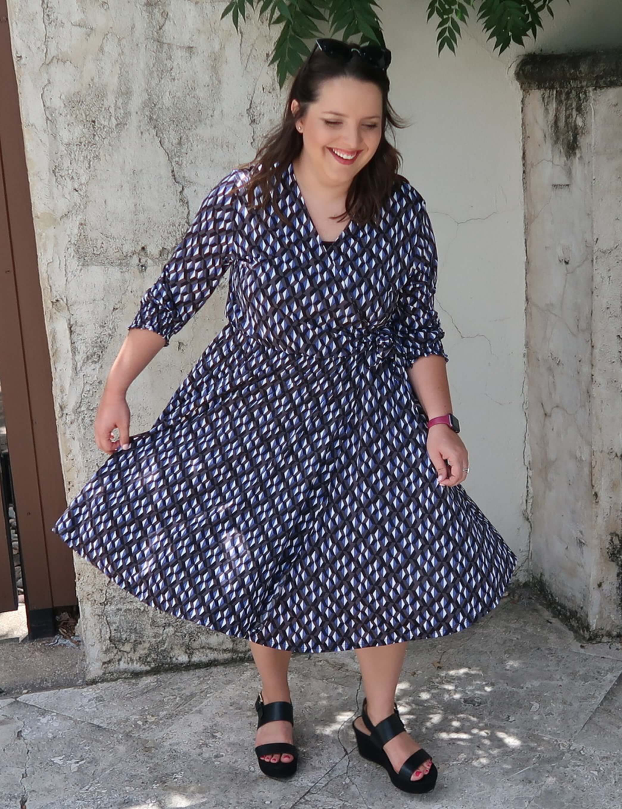 plus size plaid wrap dress