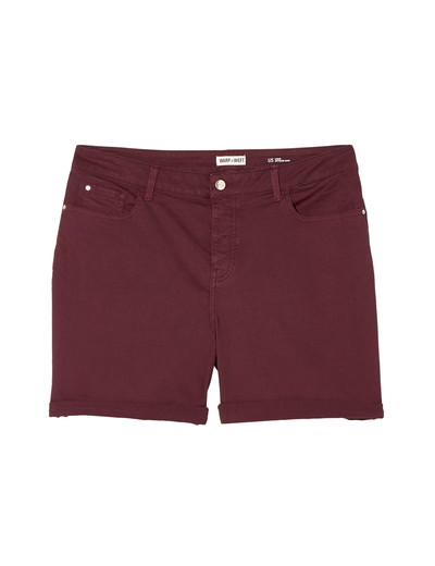 plus size burgundy shorts